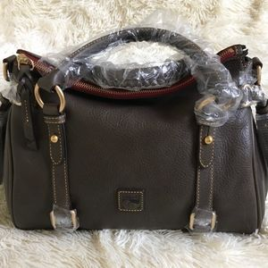 Dooney & Bourke Small Florentine Satchel Charcoal